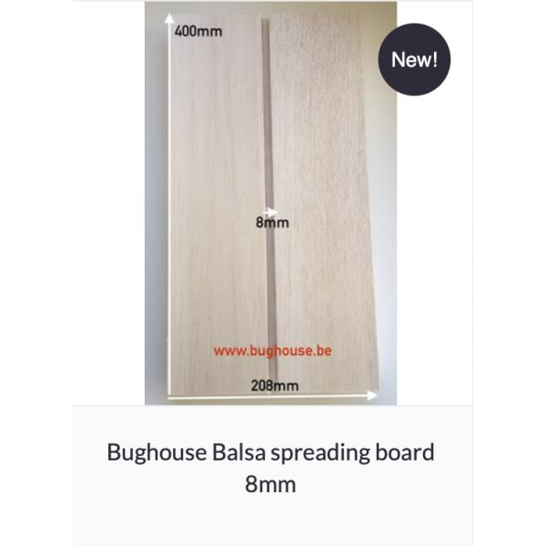 Bughouse spreading board with balsa wood (Space 8mm)
